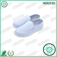 HZ-4307 Normal White Color Cleanroom ESD Shoes